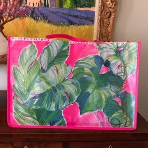New LILLY PULITZER Shopping Tote Bag Large Vinyl